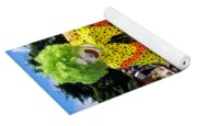 Clown Entertaining Kids Yoga Mat