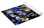 Cobalt Blue Wormhole Yoga Mat