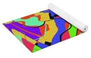 Color Drawing Abstract #3 Yoga Mat