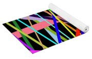 Color Lines Variety Background Yoga Mat