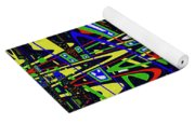 Color Works Abstract Yoga Mat