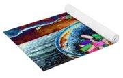 Colored Chalk Yoga Mat