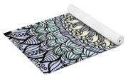 Colored Flower Zentangle Yoga Mat