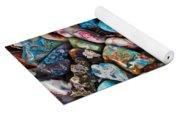Colored Polished Stones Yoga Mat