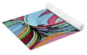 Colorful African Wire Bowls Yoga Mat