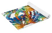 Colorful Crab Collage Art By Sharon Cummings Yoga Mat