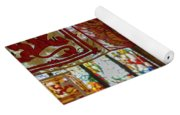 Colorful Flags And Stained Glasss Windows Yoga Mat