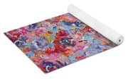Colorful Floral Bouquet. Yoga Mat