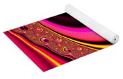 Colorful Fractal Spiral Red Yellow Pink Yoga Mat