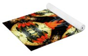 Colorful Gourds Abstract Yoga Mat