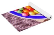 Colorful Gumballs On Plate Yoga Mat