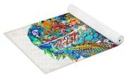 Colorful Iguana Art - One Cool Dude - Sharon Cummings Yoga Mat