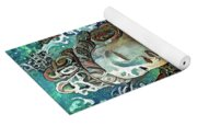 Colorful Indian Diety Figure Yoga Mat