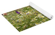 Colorful Meadow With Wild Flowers Yoga Mat