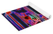 Colorful Neon Chanel Five  Yoga Mat