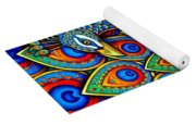 Colorful Paisley Peacock Yoga Mat