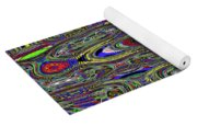 Colors Rolled And Flattened Abstract Yoga Mat