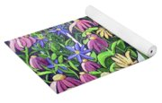 Coneflowers In Gentle Wind Yoga Mat