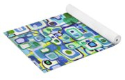 Cool Squares And Shapes Yoga Mat