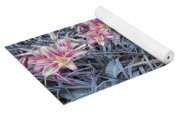 Cool Sunset Field Of Tiger Lillies Yoga Mat