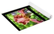 Copper Iris Triptych Squared Yoga Mat