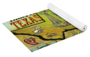 Corpus Christi Texas Cartoon Map Yoga Mat