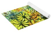 Cottage Gate Seen Through Sun Daisies Yoga Mat
