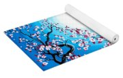 Creamsicle Kitten In Blue Moonlight Yoga Mat