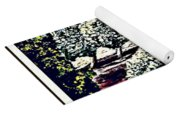 Creek In The Forest Framed Yoga Mat