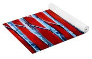 Crimson Birch Trees Yoga Mat