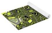 Crossing White Lines Abstract Yoga Mat