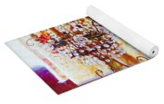 Crystal And Champagne Yoga Mat