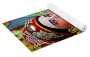Cultural Opera Actor In Red Yoga Mat