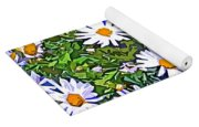 Daisy Flower Garden Abstract Yoga Mat