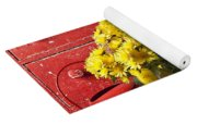 Daisy Plant In Drawers Yoga Mat