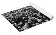 Dandelion Field In Black And White Yoga Mat