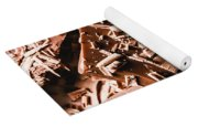 Decadent Chocolate Background Texture Yoga Mat