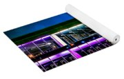 Defiance College Library Night View Yoga Mat
