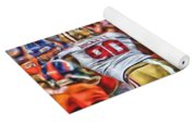 Denver Broncos Peyton Manning Oil Art Yoga Mat
