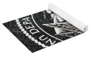 Department Of The Navy Emblem Polished Granite Yoga Mat