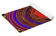 Digital Blue Red Plate Special Yoga Mat