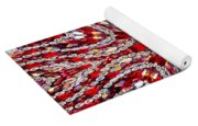 Digital Kaleidoscope Red-white 4 Yoga Mat
