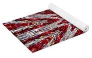 Digital Kaleidoscope Red-white 7 Yoga Mat