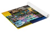 Disneyland Collage 02 Yellow Yoga Mat