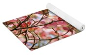 Dogwood Tree Landscape Pink Dogwood Flowers Art Yoga Mat