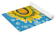 Dove And Sunflower Yoga Mat