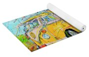 Dutch Holiday, Yellow Surf Bus Yoga Mat