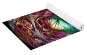 Electric Neon Abstract Yoga Mat