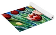 Enchanted Tulips Yoga Mat