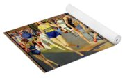 England Southport Restored Vintage Travel Poster Yoga Mat